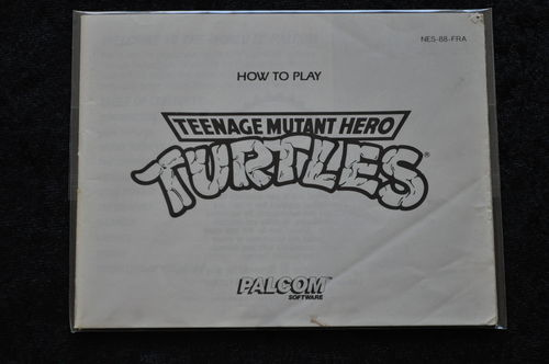 Teenage Mutant Hero Turtles Nintendo NES Manual