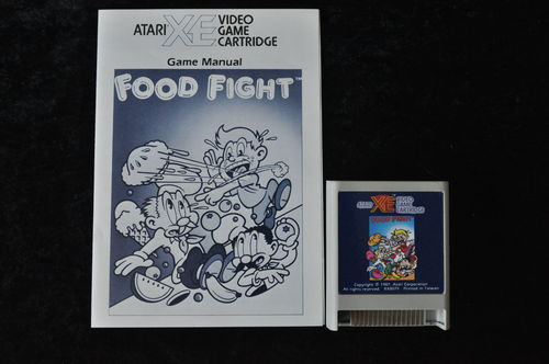 Food Fight Atari XE/XL + Manual